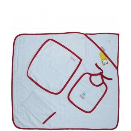 سرویس حوله چهار تکه (با نوار قرمز) تاپ لاین Top Line