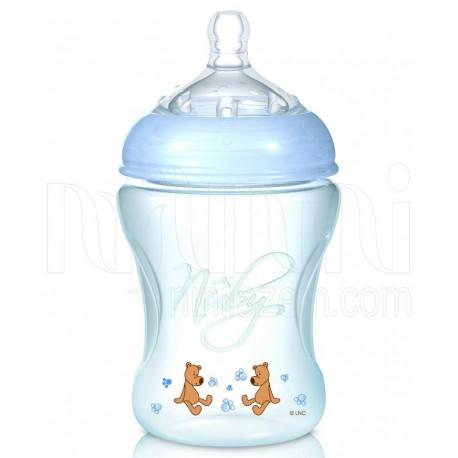 شیشه شیر طلقی 240 میل آبی نابی Nuby