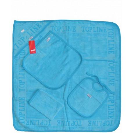 سرویس حوله چهار تکه رنگی (آبی کمرنگ) تاپ لاین Top Line