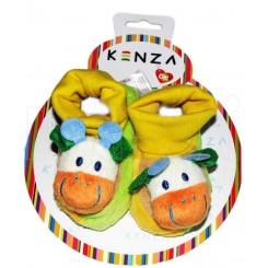 خريد اينترنتي سيسموني نوزاد پاپوش کودک گاو سفید کنزا Kenza نوزادی، نی نی لازم فروشگاه اینترنتی سیسمونی
