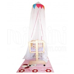 خريد اينترنتي سيسموني نوزاد تورسقفی تخت مدل لیدی پارکادو Parkado نوزادی، نی نی لازم فروشگاه اینترنتی سیسمونی