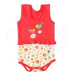 خريد اينترنتي سيسموني نوزاد لباس دخترانه به آوران مدل چین دار زیردکمه رکابی Behavaran نوزادی، نی نی لازم فروشگاه اینترنتی سیسمونی
