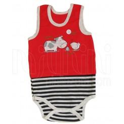 خريد اينترنتي سيسموني نوزاد به آوران مدل فارم زیر رکابی پسرانه Behavaran نوزادی، نی نی لازم فروشگاه اینترنتی سیسمونی