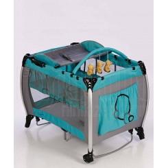 خريد اينترنتي سيسموني نوزاد تخت و پارک گهواره ای آبی کاپلا Capella نوزادی، نی نی لازم فروشگاه اینترنتی سیسمونی