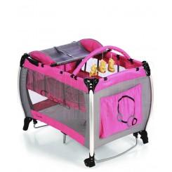 خريد اينترنتي سيسموني نوزاد کاپلا - تخت و پارک گهواره ای صورتی Capella نوزادی، نی نی لازم فروشگاه اینترنتی سیسمونی