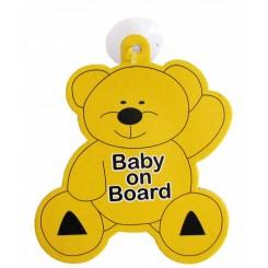 خريد اينترنتي سيسموني نوزاد آویز هشدار کودک در ماشین Baby on board نوزادی، نی نی لازم فروشگاه اینترنتی سیسمونی