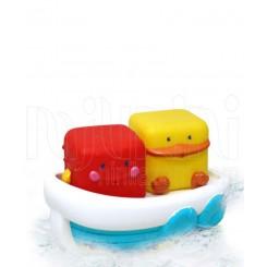 خرید پوپت آب پران حمام نوزاد طرح قایق شناور بلوباکس Blue-Box نوزادی، نی نی لازم فروشگاه اینترنتی سیسمونی