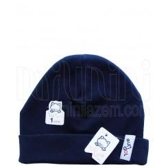 خريد اينترنتي سيسموني نوزاد کلاه استرچ (سرمه ای) تاپ لاین Top Line نوزادی، نی نی لازم فروشگاه اینترنتی سیسمونی