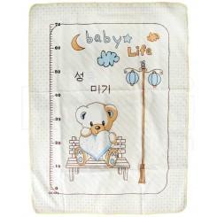 خريد اينترنتي سيسموني نوزاد زیرانداز تعویض بزرگ طرح بی بی لایف Baby Llife نوزادی، نی نی لازم فروشگاه اینترنتی سیسمونی