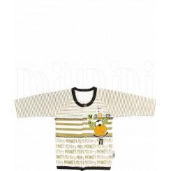 خريد اينترنتي سيسموني نوزاد تونیک پسرانه طرح میمون تاپ لاین Topline نوزادی، نی نی لازم فروشگاه اینترنتی سیسمونی