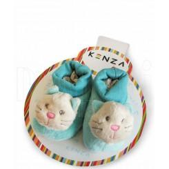 خريد اينترنتي سيسموني نوزاد پاپوش کودک گربه آبی کنزا Kenza نوزادی، نی نی لازم فروشگاه اینترنتی سیسمونی