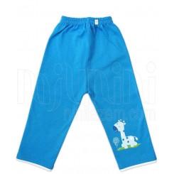 شلوار تک چاپ آبی رنگ دخترانه و پسرانه طرح زرافه سفید چاپی دولو Davalloo