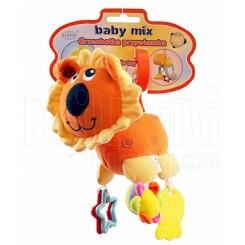 جغجغه و دندانگیر عروسکی پولیشی شیر نارنچی بی بی میکس Baby Mix