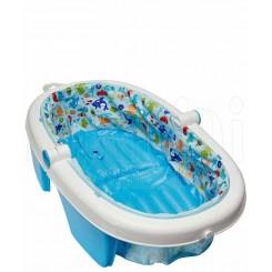 خريد اينترنتي سيسموني نوزاد وان حمام تاشو آبی طرحدار سامر Summer نوزادی، نی نی لازم فروشگاه اینترنتی سیسمونی