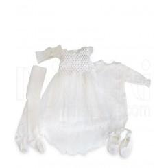 خريد اينترنتي سيسموني نوزاد ست لباس عروس نگین دار نوزادی Beb bee نوزادی، نی نی لازم فروشگاه اینترنتی سیسمونی