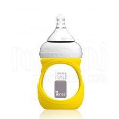 خرید شیشه شیر پیرکس 150 میل با عایق ضربه گیر یومه Umee نوزادی، نی نی لازم فروشگاه اینترنتی سیسمونی