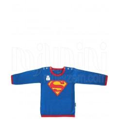 زیرپوش آستین بلند نوزادی پسرانه طرح سوپرمن تاپ لاین Topline