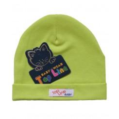 خريد اينترنتي سيسموني نوزاد کلاه استرچ (سبز) تاپ لاین Top Line نوزادی، نی نی لازم فروشگاه اینترنتی سیسمونی