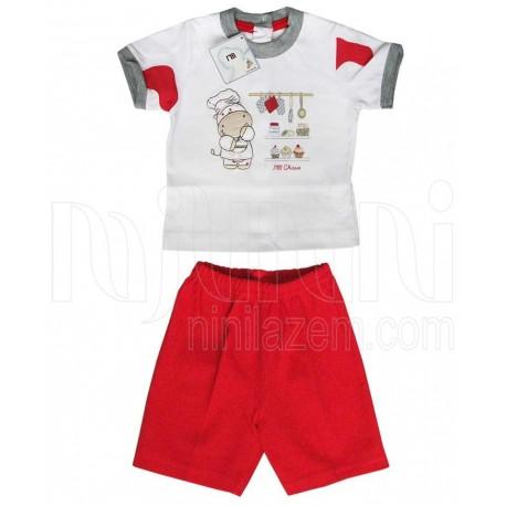 خرید تیشرت آستین کوتاه و شلوارک قرمز مادرایران Mother Iran نوزادی، نی نی لازم فروشگاه اینترنتی سیسمونی