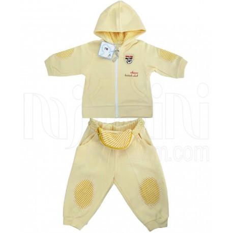 خرید ست سویشرت و شلوار فانتزی پسرانه لیمویی مادرایران Mother Iran نوزادی، نی نی لازم فروشگاه اینترنتی سیسمونی