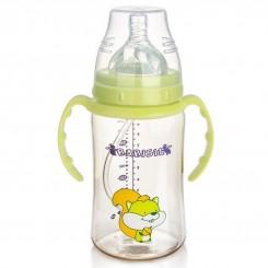 شیشه شیر طلقی درب دار 360 درجه 300 میل بی بی سیل Babisil