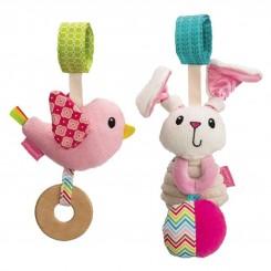 خريد اينترنتي سيسموني نوزاد عروسک آویز طرح خرگوش جغجغه ای و پرنده اینفنتینو Infantino نوزادی، نی نی لازم فروشگاه اینترنتی سیسمونی