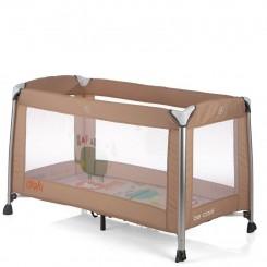 خريد اينترنتي سيسموني نوزاد تخت و پارک  رنگ شکلاتی با آویز تخت موزیکال بی کول Be Cool نوزادی، نی نی لازم فروشگاه اینترنتی سیسمونی