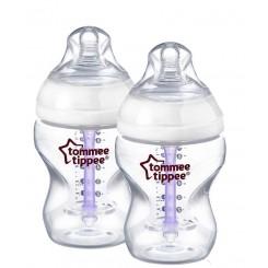 شیشه شیر دو عددی 260میل ضدنفخ تامی تیپ Tommee Tippee