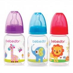 خريد اينترنتي سيسموني نوزاد شیشه شیر طلقی ببدور 125 میل باغ وحش Bebedor نوزادی، نی نی لازم فروشگاه اینترنتی سیسمونی