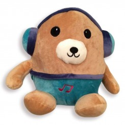 خريد اينترنتي سيسموني نوزاد عروسک پولیشی خرس هدفون دار کودک نوزادی، نی نی لازم فروشگاه اینترنتی سیسمونی