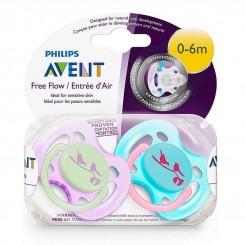 خريد اينترنتي سيسموني نوزاد پستانک 2 تایی 0 تا 6 ماه مدل پرنده فیلیپس اونت Philips Avent نوزادی، نی نی لازم فروشگاه اینترنتی سیسمونی