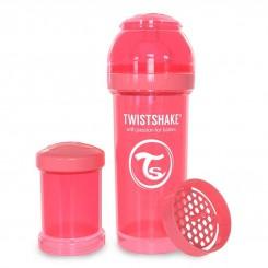 شیرخوری نوزاد تویست شیک طلقی 260 میل هلویی Twistshake